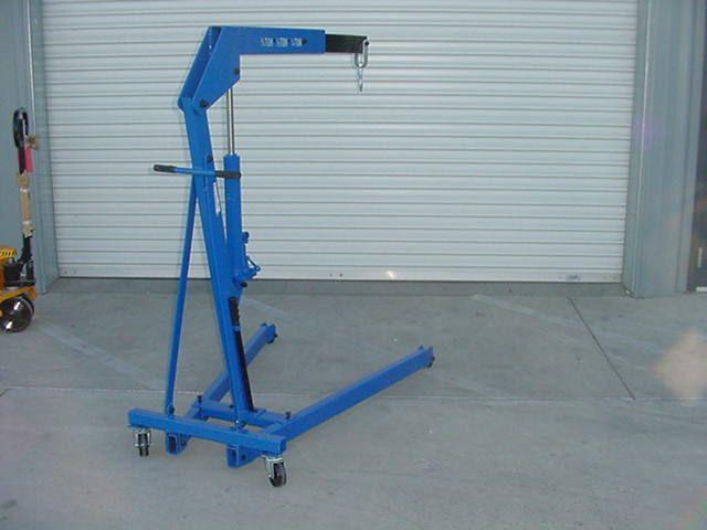 Mobile shop crane Engine hoist Westward 5Z010 3/4 ton