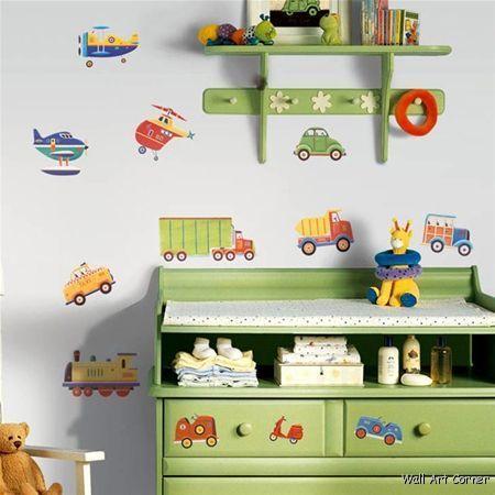 26 Big Cars Transportation boys Kids Room Nursery Wall Sticker Decals