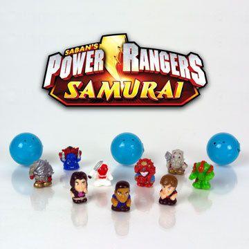 NiP SQUINKIES for Boys POWER RANGERS SAMURAI Bubble PACK 12 Characters