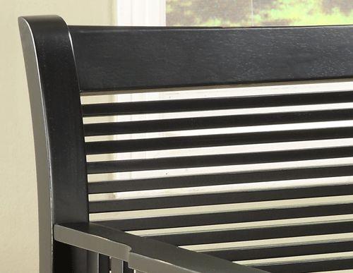 Solid Wood Storage Seat Bench Black Finish / Oak Finish