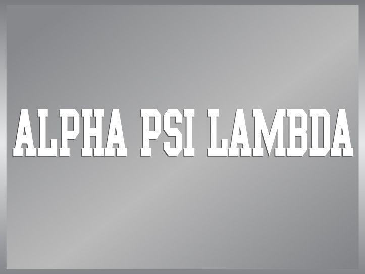 ALPHA PSI LAMBDA cut vinyl decal sticker strip Greek