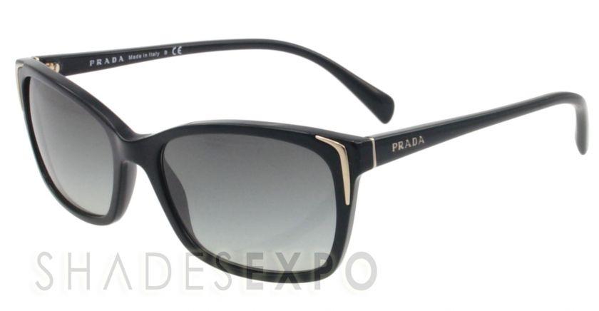 NEW Prada Sunglasses SPR 02O BLACK 1AB 3M1 SPR02O AUTH