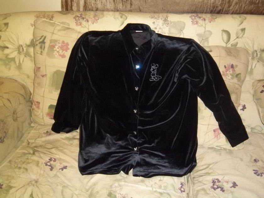 mickey mouse mickey shape rhinestone button size 2x shirt